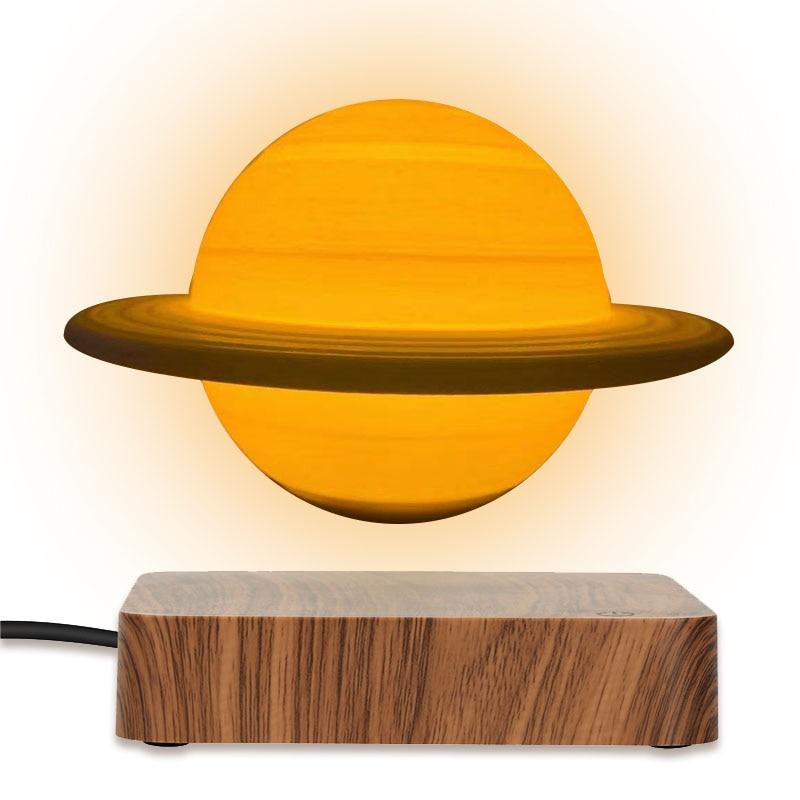 New LED Night Light Rotating Floating Creative 3D Magnetic Magnetic Levitation Desktop Decoration Valentine's Day Christmas Gift