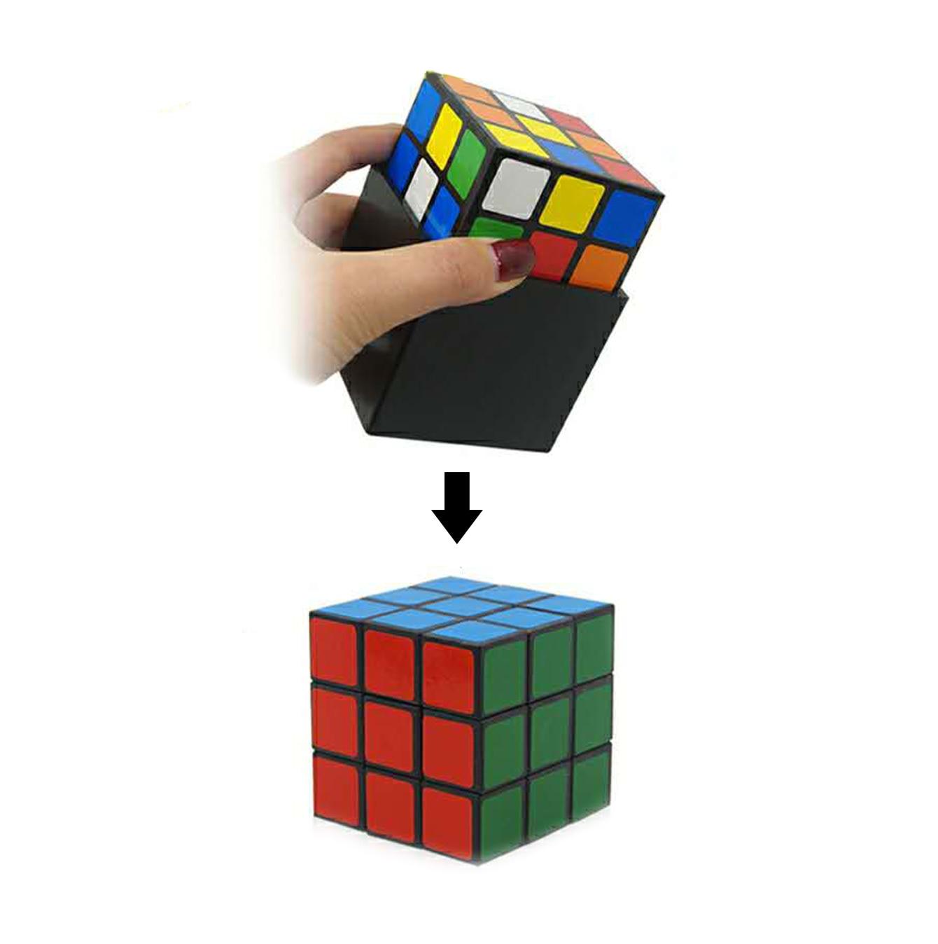 1 Set Triple Cube Magic Tricks Instant Restore Close Up Magician Stage Magic Gimmick Cube Illusions недорого