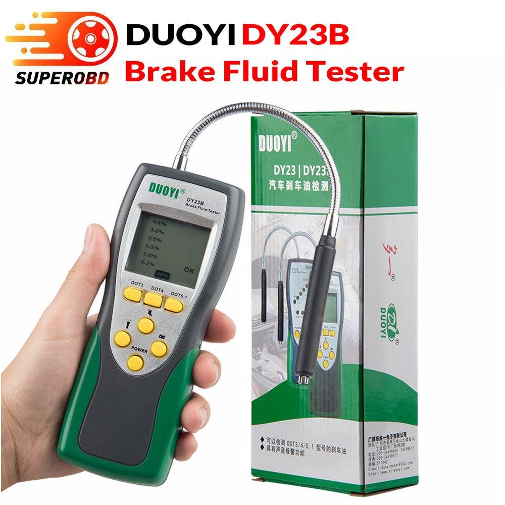 DY23b, comprobador automático de líquido de frenos Duoyi (con batería de 9V), pantalla LCD Digital, batería de 9V, DY23 plus DOT 3/4/5.1 DY23B