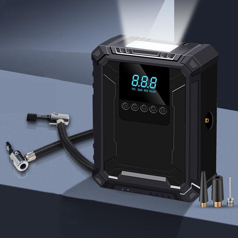 Портативный воздушный компрессор 12 В, воздушный инжектор для шин, автомобильный насос для шин, велосипедный насос для автомобильного насос...