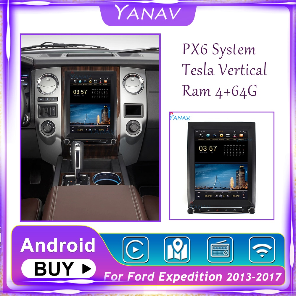 2 Din Android Car Radio Audio GPS Navigation For Ford Expedition 2013-2017 Stereo Receiver Video Mul