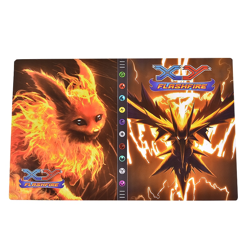 432 Cards Pokemon Album 9 Pocket Folder Book Anime Display Livre Pokémon Collection Map Binder Play