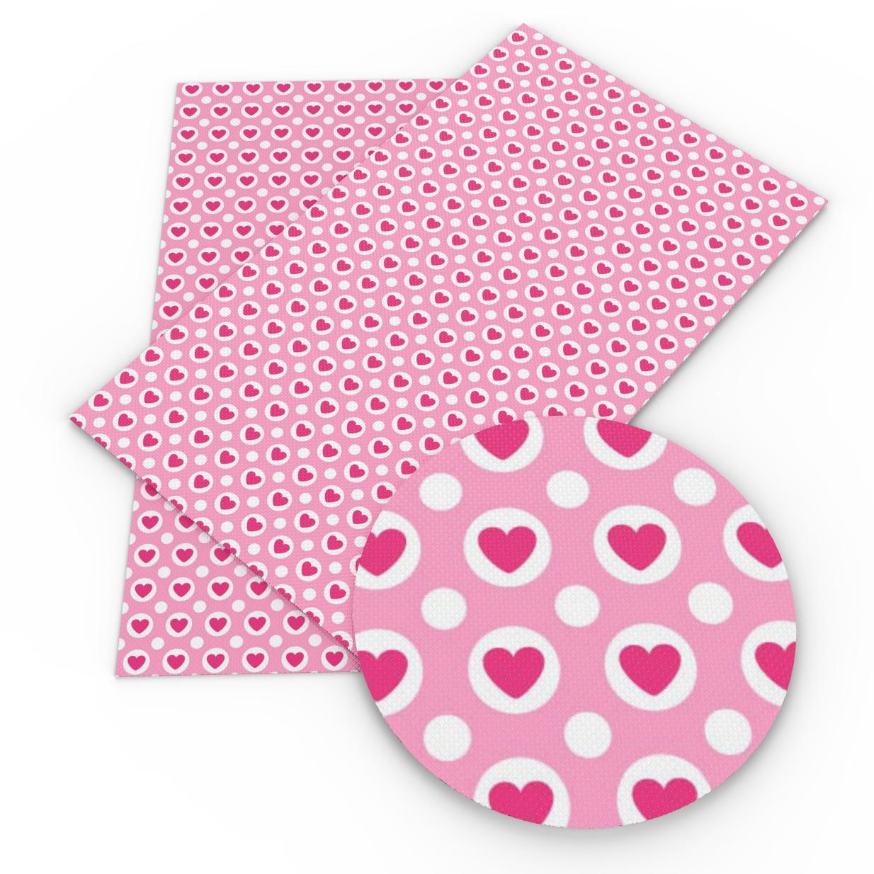 50*140CM Día de San Valentín corazón impreso poliéster tela de algodón para acolchar tela de alta calidad transpirable, c11375