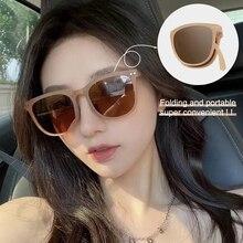 Portable Folding Polarized Sunglasses Women Men Vintage TR90 Fanshion luxury Woman Sunglasses 2021 S