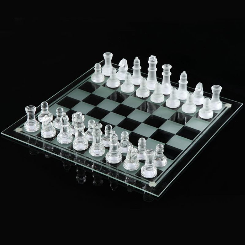 Crystal Chess Transparent Ornaments Portable Travel Chessboard Puzzle Game-Specific Chess