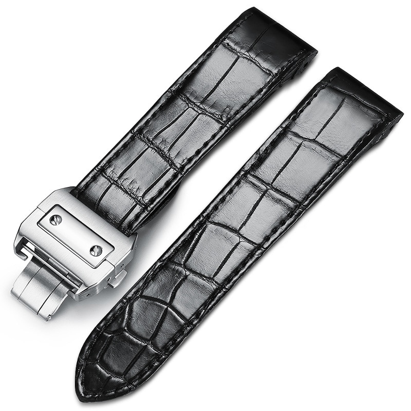 Handmade crocodile leather strap, men's and women's leather accessories, bracelet substitute substitute Santos 7-24
