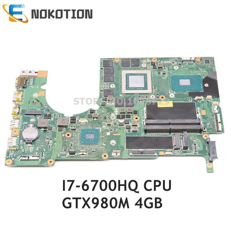 NOKOTION لشركة أيسر المفترس G9-591 اللوحة المحمول P5NCN P7NCN NBQ0211003 ملحوظة. Q0211.003 GTX980M 4G GDDR5 SR2FQ I7-6700HQ 2.6ghz