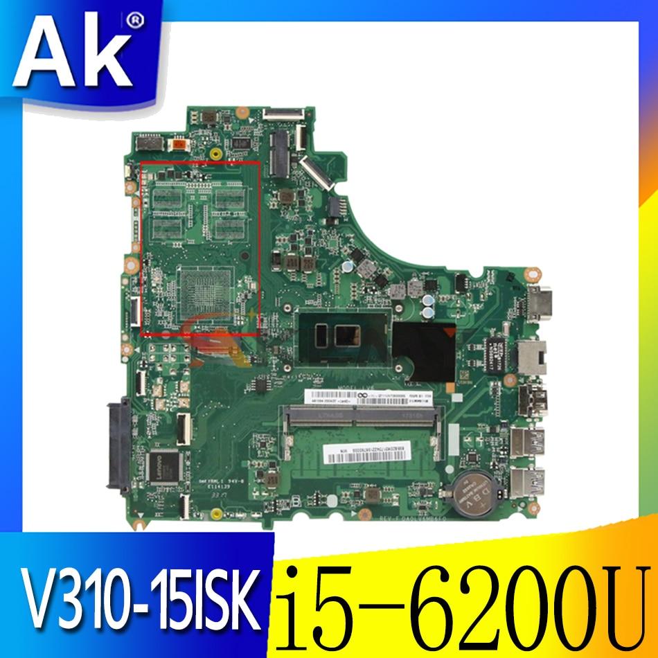 Akemy لينوفو V310-15ISK/IKB V510-15IKB/ISK E52-80 اللوحة الأم لأجهزة الكمبيوتر المحمول DA0LV6MB6F0 CPU i5-6200U RAM 4GB اختبار 100% العمل