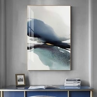 modern ink abstract canvas painting blue watercolor posters and prints nordic wall art picture for living room bedroom decor