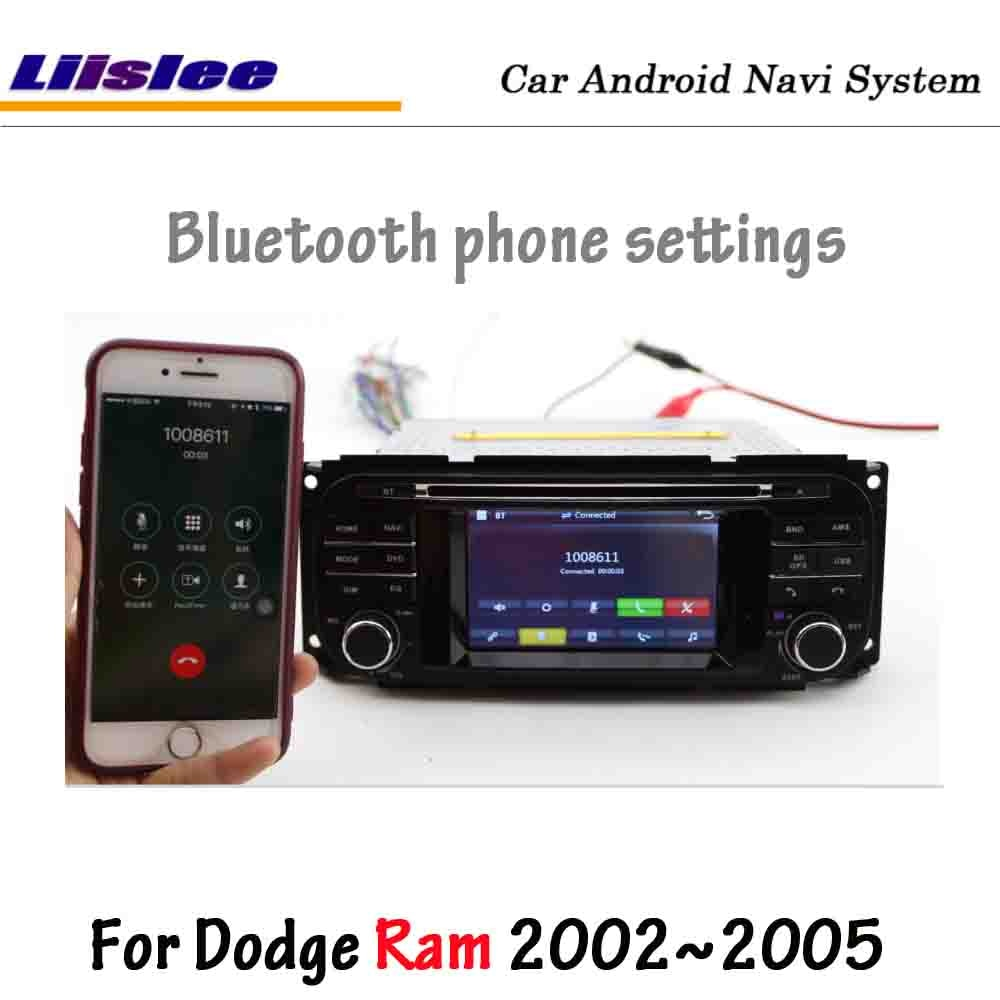 Coche Liislee para Dodge Ram 2002 Radio 2005 Radio CD reproductor de DVD pantalla HD estéreo GPS mapa Navi navegación sistema Multimedia
