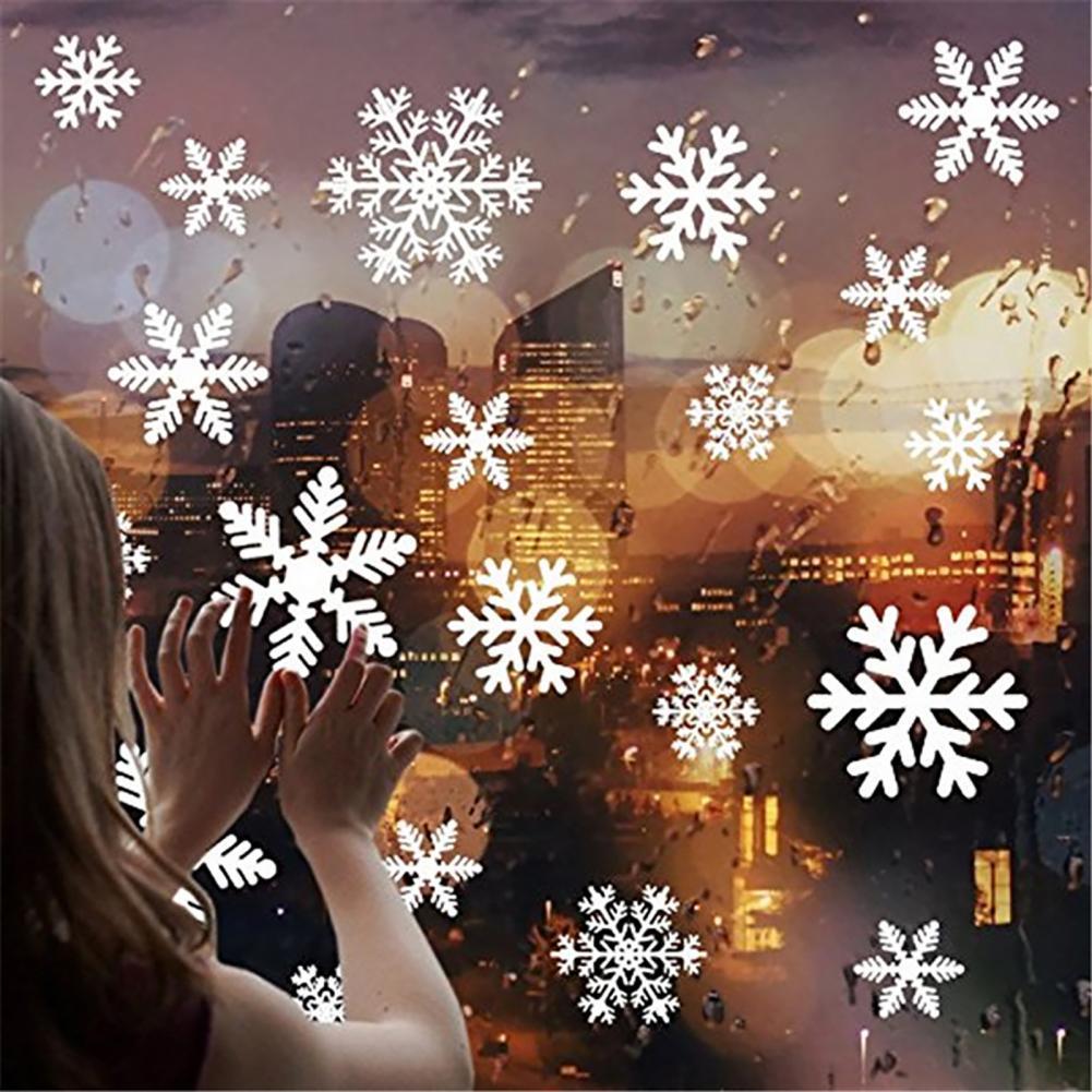 80% Прямая поставка! Наклейки на окна со снежинками, самоклеящиеся водонепроницаемые наклейки на стену из ПВХ для дома