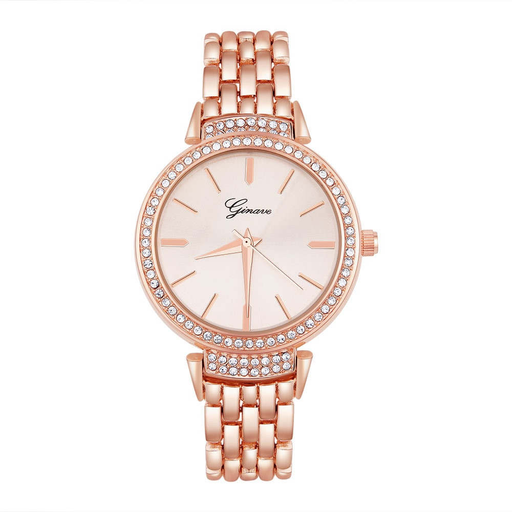 GINAVE brand European and American new women's watches fashion casual business ladies watch alloy strap alphabet quartz watch enlarge