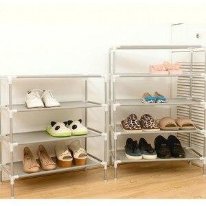 DIY Non-woven fabric Shoe RackStainless steel vertical shoe cabinet organizer storage shelf Home Organizer Accessories Furniture