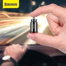 Baseus Mini chargeur de voiture USB pour tablette de téléphone portable GPS 3.1A chargeur rapide chargeur de voiture double USB chargeur de téléphone de voiture adaptateur dans la voiture