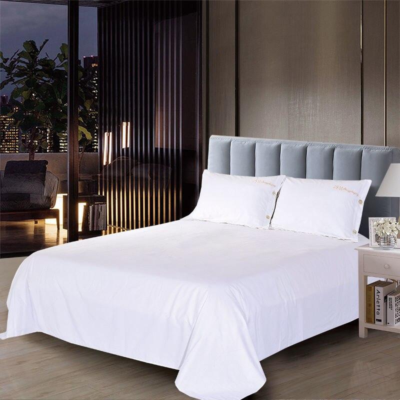 بيور وايت هومستاي فندق مستشفى مدرسة عنبر الفراش حمام القدم واحد/مزدوج ملاءات السرير مع 2 قطعة أعلى الوسائد J8326