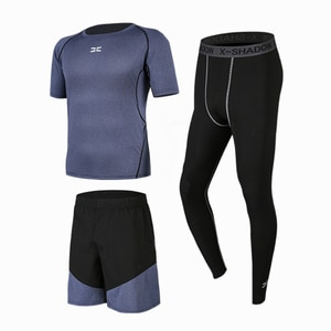 Casual Tracksuit Mens Running Suit Jogger Sports Wear Black 3 Piece Set Fitness Gym Clothes Training Workout  Jogging Outfits