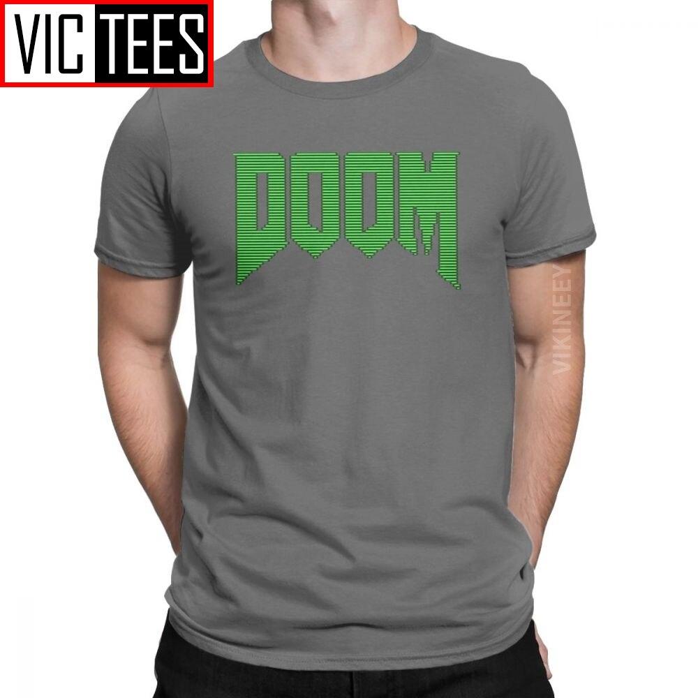 Camiseta Doom Commodore 64 Retro 8 bits camiseta hombres algodón juego Conan bárbaro Thulsa 3D camiseta impresa