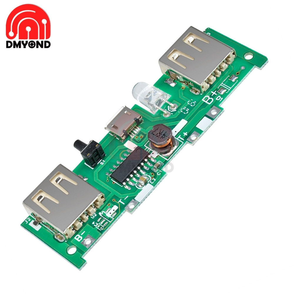 DC 5V 1A 2A Mobile Power Bank Charger Control Board Micro USB Polymer Lithium Battery Charging Board