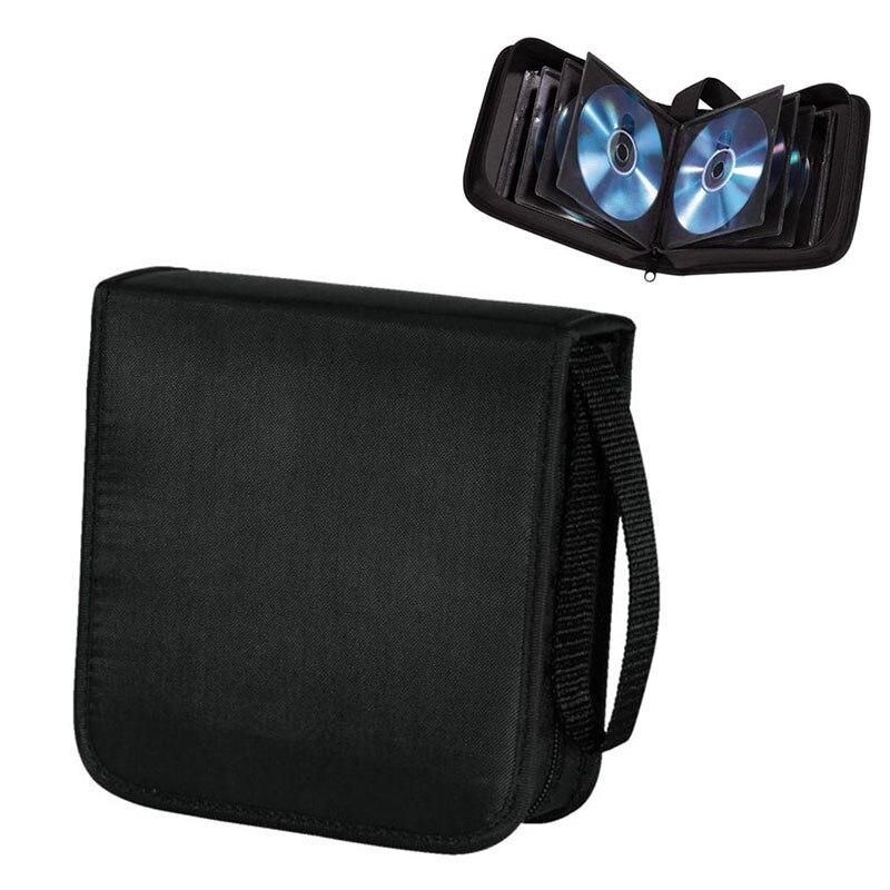 40 espacio CD y DVD discos Bluray estuche de transporte protector bolsas de almacenamiento cartera superior
