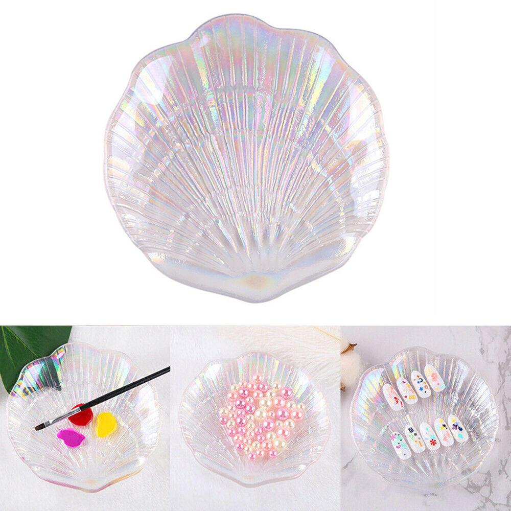 Arte de uñas sirena cristal pantalla bandeja de exhibición placa tablero foto Props 3D uñas joyería DIY herramienta