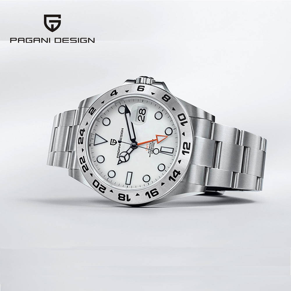 AliExpress - 2021 New Pagani Design Men's Explorer Series GMT Automatic Mechanical Watches Sapphire Stainless Steel Sports Watch Reloj Hombre