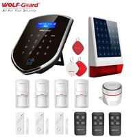 Wolf-Guard     systeme dalarme de securite domestique sans fil  wi-fi  GSM 3G  anti-cambriolage  sirene solaire  porte fenetre  detecteur de mouvement PIR  carte RFID