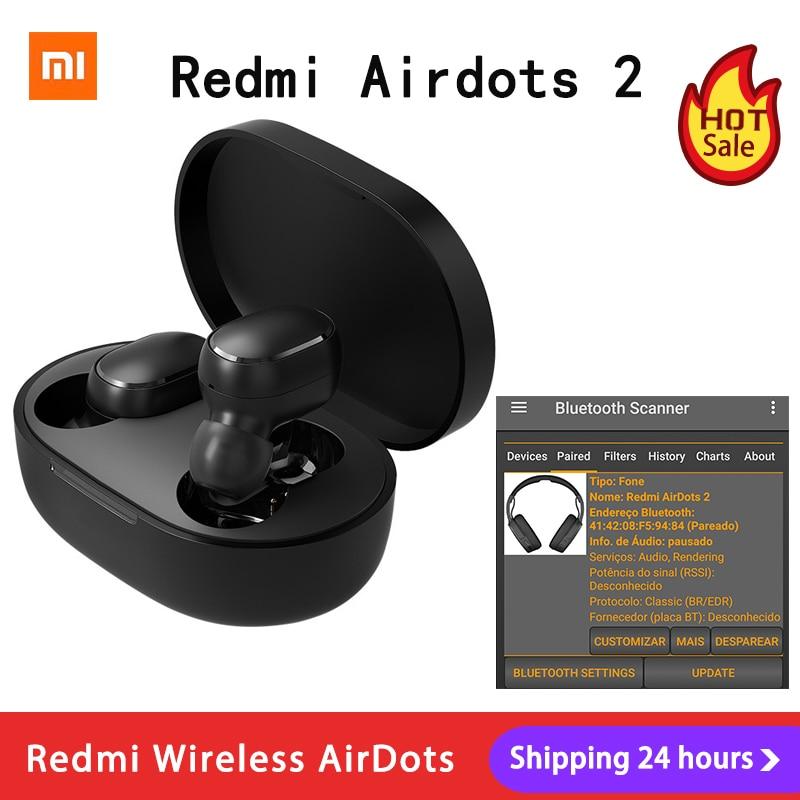 Xiaomi Redmi AirDots 2 Наушники вкладыши TWS Bluetooth 5,0 шумоподавление с микрофоном AI управления Redmi AirDots S беспроводная гарнитура