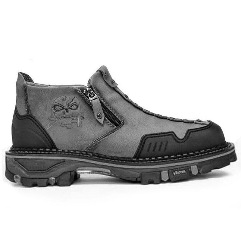 جديد رجالي أحذية برقبة الغربية مطرزة سيارة خياطة سستة المضادة للانزلاق الكلاسيكية رياضية غير رسمية تسلق الجبال الذكور حذاء