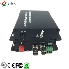 2Ch AHD HD-CVI HD-TVI video Su Fibra Convertitore per 2MP AHD Telecamera ptz