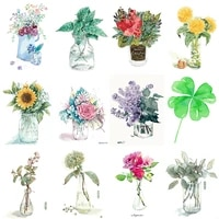 tapb flowers in the vase pictures by numbers handpainted on canvas oil painting by numbers home wall art decor