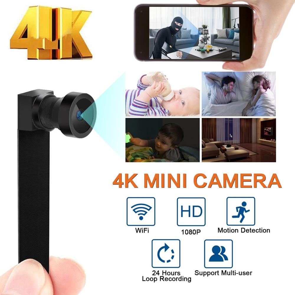 كامل HD 4K 1080P سر البسيطة واي فاي كاميرا لاسلكية الأمن كاميرا فيديو أغنية مسجل كشف الحركة البسيطة كاميرا خفية بطاقة