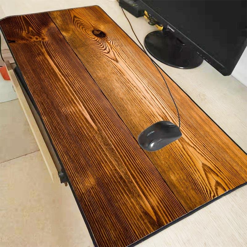 Mairuige деревянная текстура, скоростная версия, большой игровой коврик для мыши, коврик для мыши с блокирующим краем, коврик для мыши для ноутб...