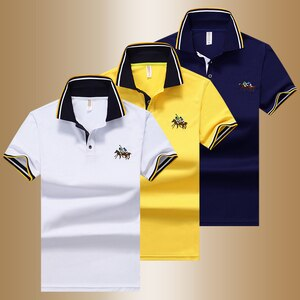 Men polo shirt short sleeve 2021 new arrival summer casual thin male polo shirt teenage boy tops Korean style hot sale P23