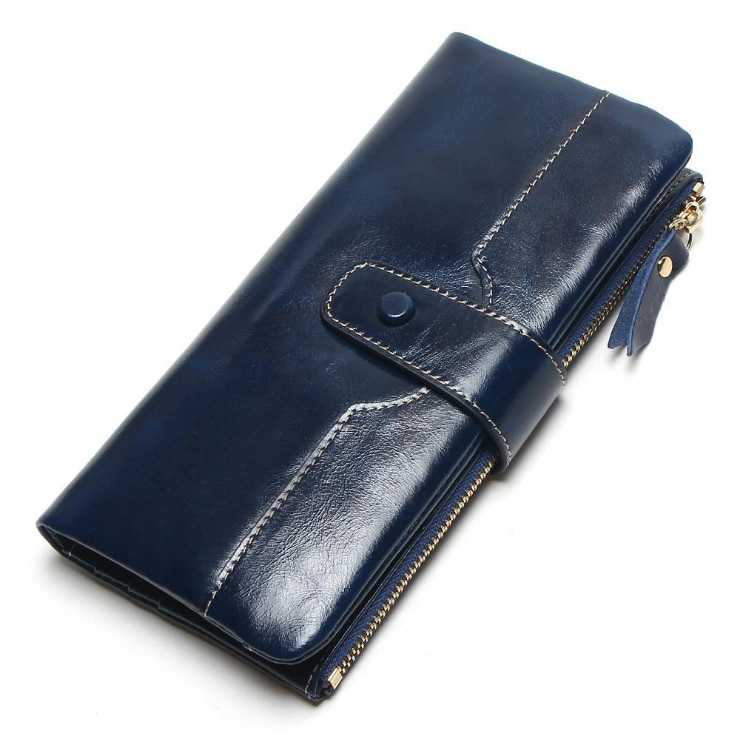 2020 new women wallet high quality genuine Leather long style money clutch bag Fashion Oil wax skin hasp Lady Coin Purse