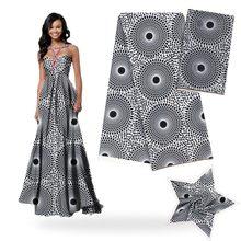 Pure Silk fabric digital printed fabric ankara African wax pattern 4 yards audel fabric +2 yards chiffon for dress