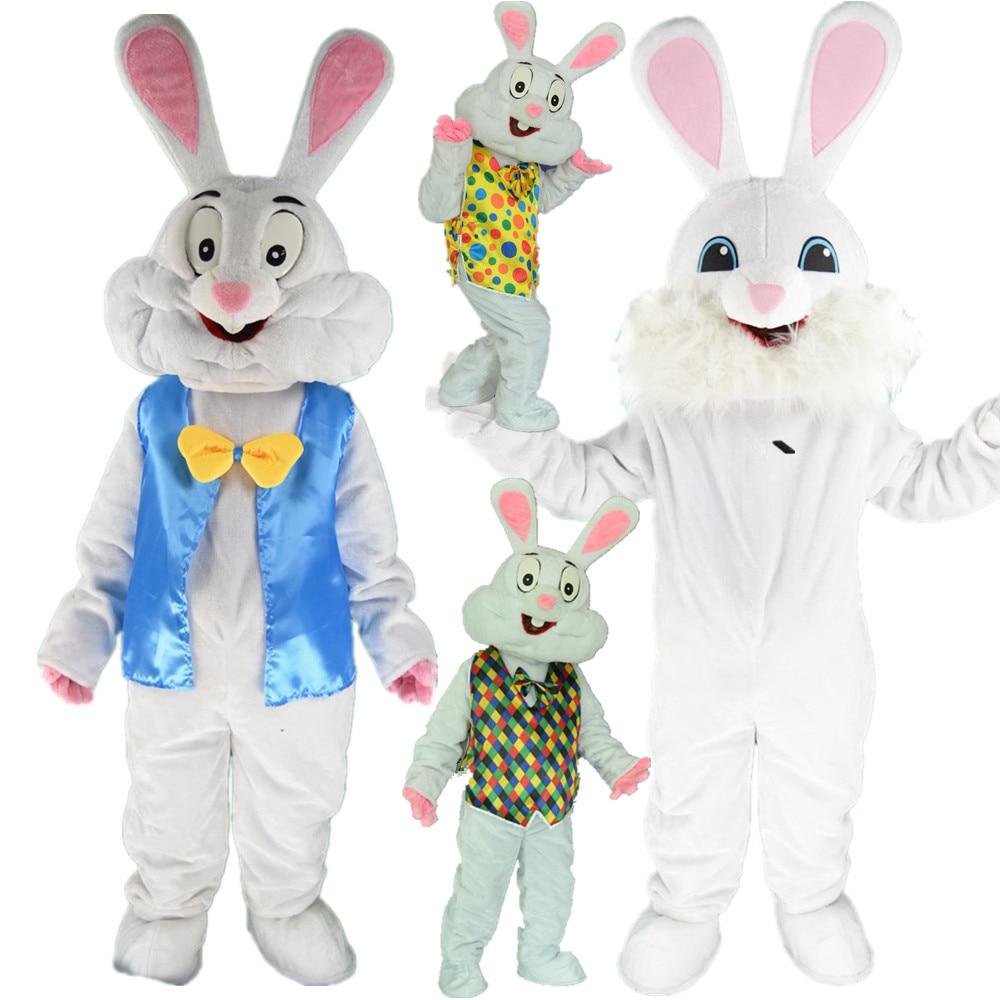 Disfraces cosplay pasteles Pascua profesional mascota conejo disfraz Bugs conejo liebre Pascua mascota adulta