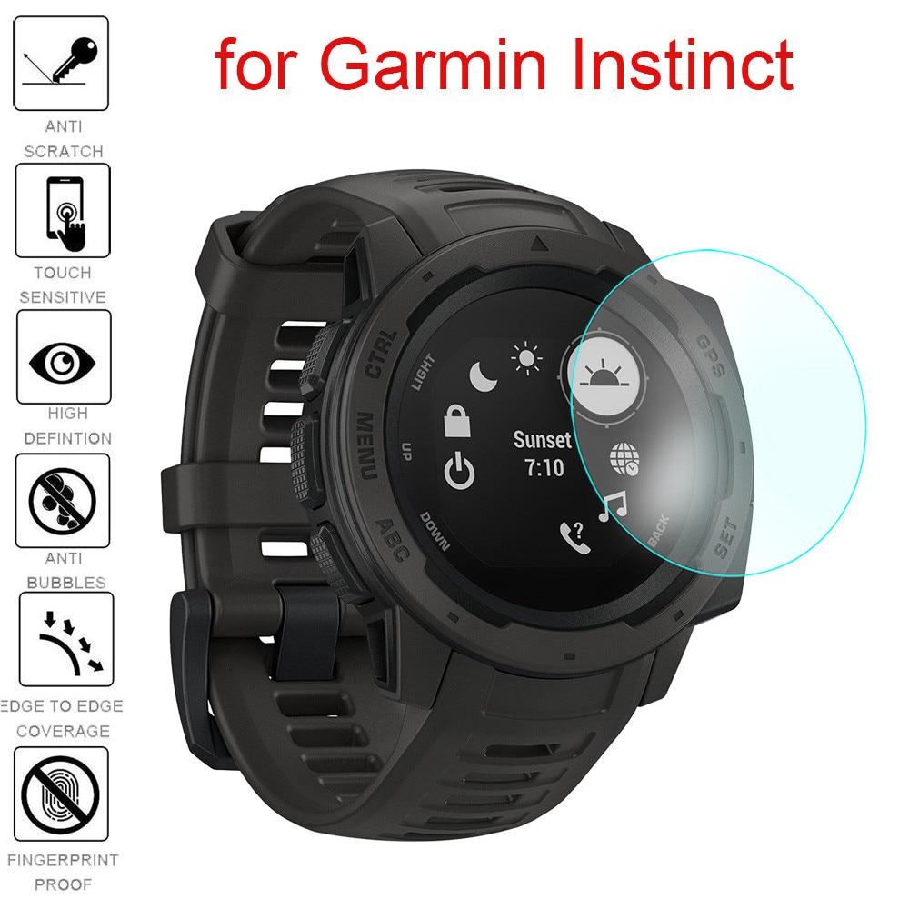 1/2 Uds Ultra película transparente Protector de pantalla de vidrio templado para Garmin instinto
