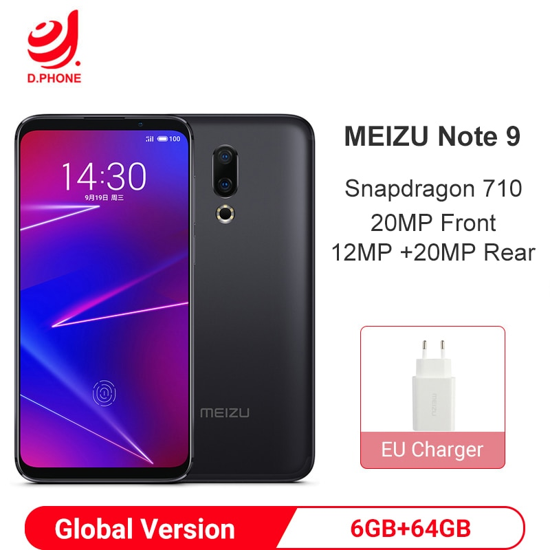 "Versión Global Meizu 16 6GB RAM 64GB ROM Snapdragon 710 Smartphone 6,0 ""FHD pantalla 12MP 20MP cámara trasera dual 20MP cámara frontal"
