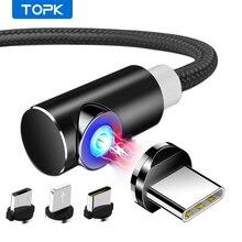 TOPK 1M 2M Magnetische Micro USB Kabel für iPhone Samsung USB Typ C Magnetic Charging Kabel USB C handy Kabel