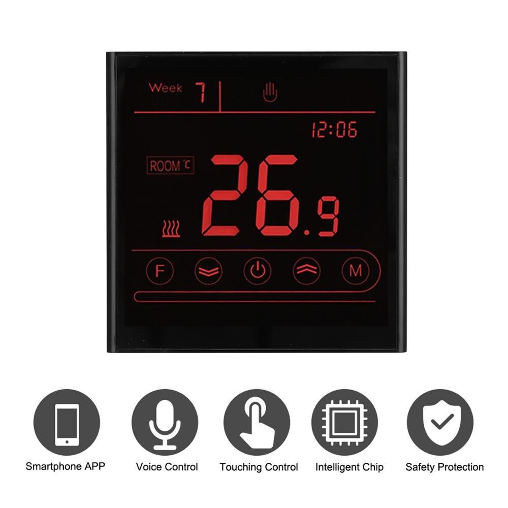 Habitación Wifi inteligente controlador de temperatura IOS Android App 110V 220V termostato inalámbrica eléctrica de agua y la caldera de Gas