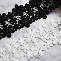 double row snowflake milk silk embroidery lace barcode water soluble lace plum blossom lace clothing accessories