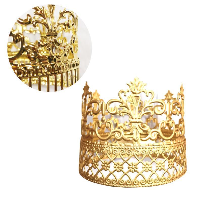 Bolo de aniversário coroa decoração do vintage criativo rainha coroa bolo topper sobremesa decoração para festa de aniversário festival