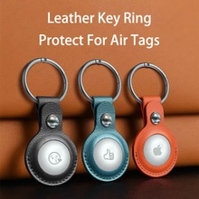 Protective Cover for AirTags Shockproof PU Leather Case Shell Location Tracker Protector AirTags Blu