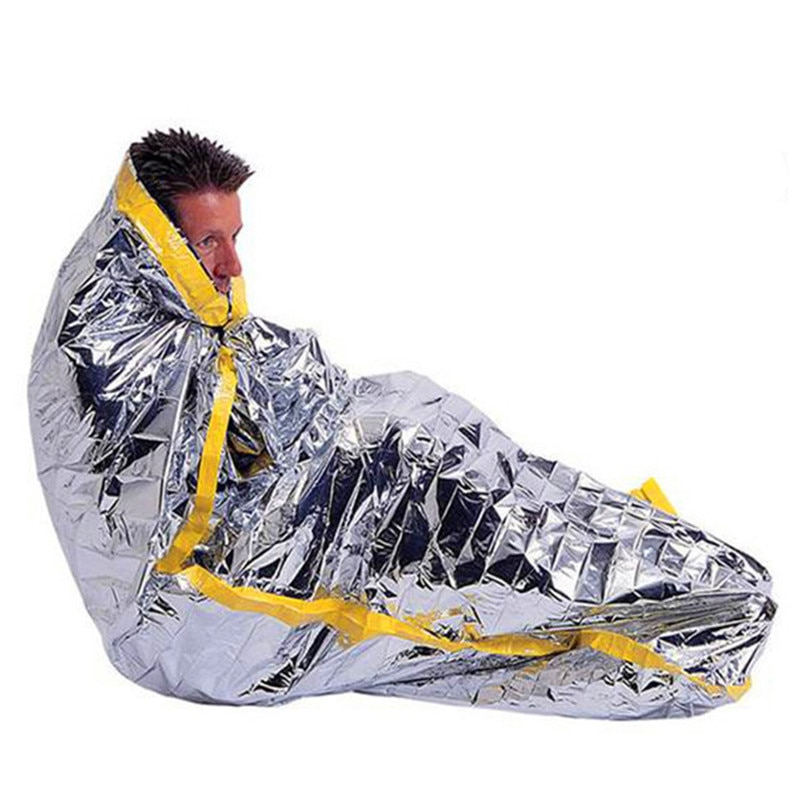 Sliver 160x210cm Rescue Emergent Blanket Survive Thermal First Aid Kit Treatment Warm Heat Dry Keep Foil Blanket Outdoor Tool