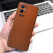 Leather Grain Decal Skin for Oneplus 9 Pro Film Back Covers Protector Slim Matte Sticker for One plu