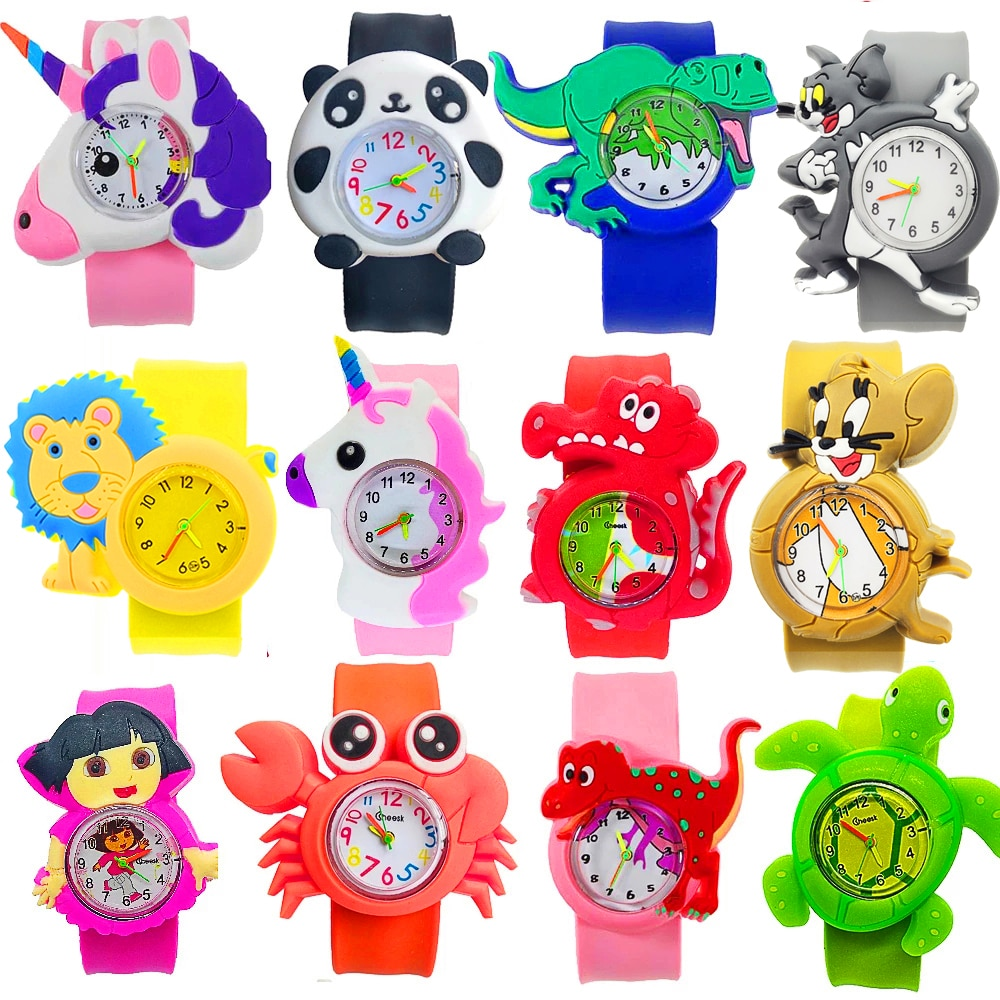 Manufacturers wholesale kids watches cartoon dinosaur animal children watch clasp circle baby toys b