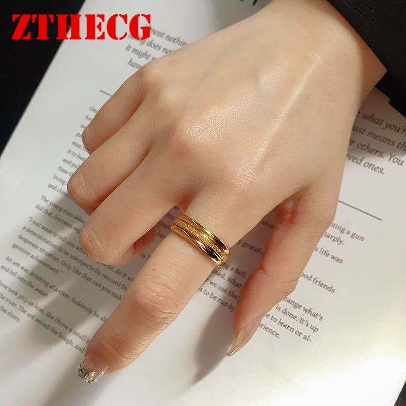 3 шт., женские кольца из нержавеющей стали, золотистого и розового цвета