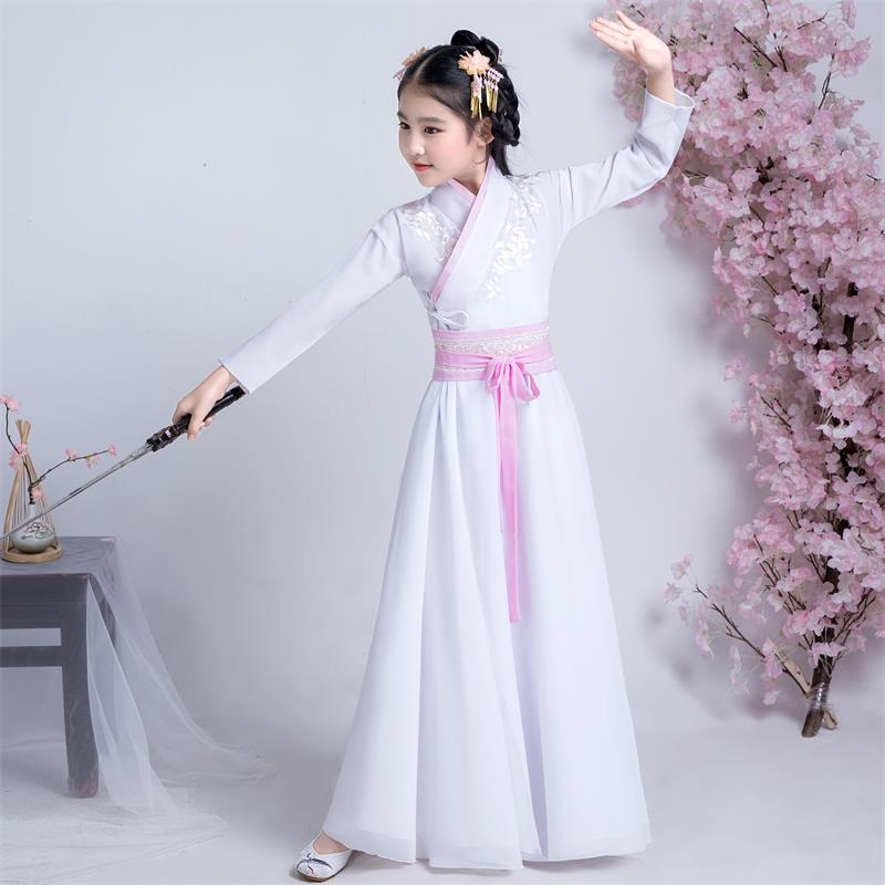 زي هانفو الصيني التقليدي للأطفال ، ملابس شعبية ، زي عتيق ، مرحلة الأطفال