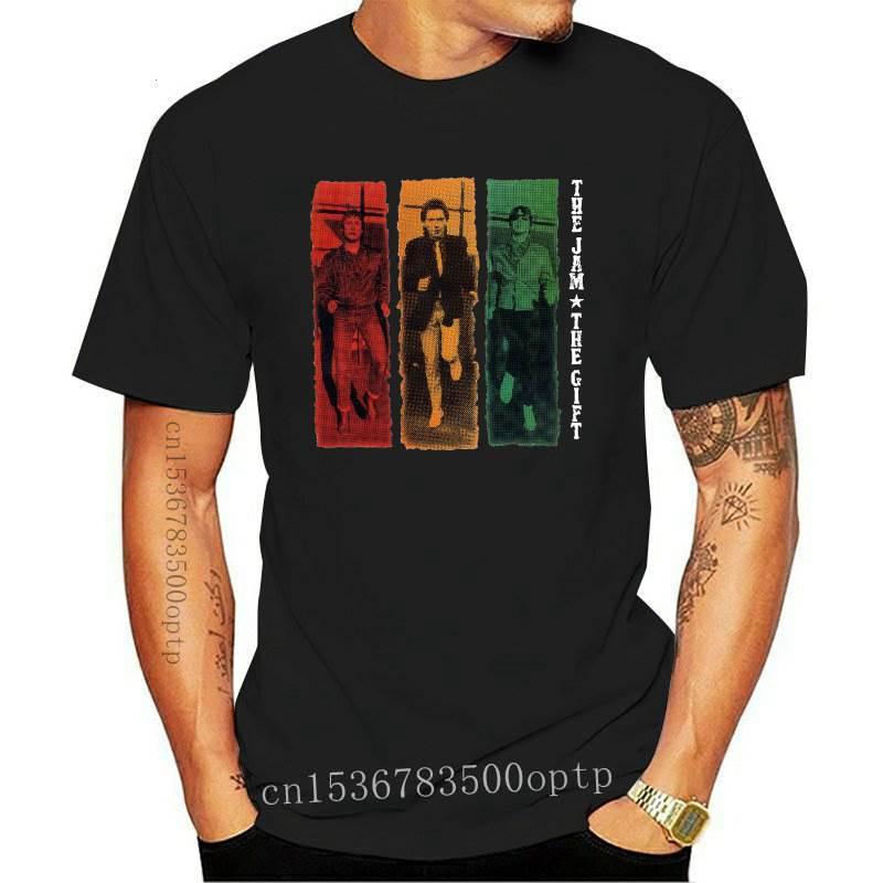 New The Jam T-Shirt, Mens Gift Paul Weller Unisex Top Guitar Poster Art Men Cotton Tees Tops Anime Harajuku Streetwear