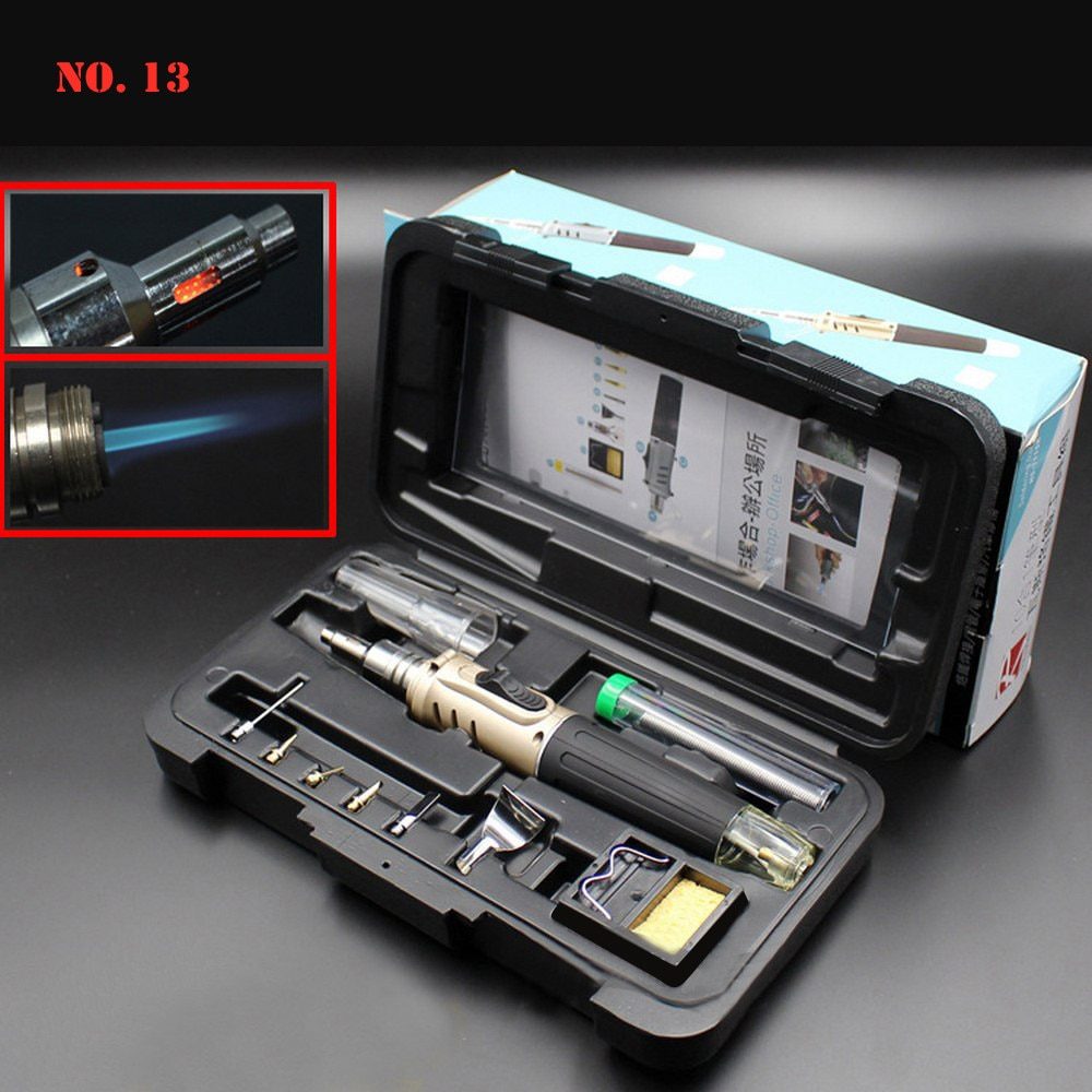 AliExpress - 10 in 1 Soldering Iron Kit Automatic Ignition Butane Cordless Welding Torch Tools Kit Electric Gas Soldering Set Blow Torch Pen